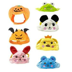 Pet Halloween Pumpkin Hat Dog Puppy Cats Plush Hat for Cosplay Costume Party