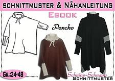 pdf.Schnittmuster und Nähanleitung für einen Poncho Gr.:34-48