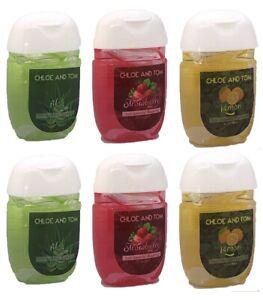 (6) Pocket Antibacterial Alcohol Hand Sanitiser Gel 70% Multipack Fragrant Ch...