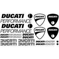 COMPATIBLE MAXI KIT DUCATI PERFORMANCE Autocollants Adhésifs Moto Haute Qualité
