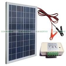 25W Poly Solar Panel System Kits: W/ 30A battery clips &3A controller for Camper