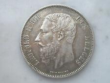 5 francs en argent Léopold 2 Belgique ecu 1872