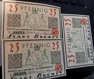 Banknote, Germany, notes 3 pieces