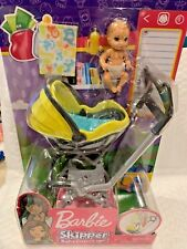 BARBIE SKIPPER BABYSITTERS INC BABY WITH CARRIER / STROLLER BRAND NEW HTF