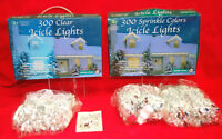 Icicle Lights with White Wire Includes 450 Clear and 600 Sprinkle  XM1124