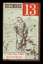 "santino-holy card""S.LUCIA V.M."