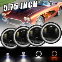 H4 5 3//4 Euro Headlight Headlamp Chevy GMC Chevrolet Ford Dodge Pontiac Plymouth