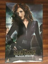 Hot Toys MMS 124 Iron Man 2 Black Widow Scarlett Johansson 12 inch Figure USED