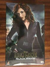 Hot Toys MMS 124 Iron Man 2 Black Widow Scarlett Johansson 12 inch Figure USED