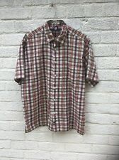 Vintage American check Short Sleeve Shirt By US Forty. Size L . Great Condition