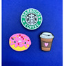 Coffee and Donut Shoe Charms for Crocs and Jibbitz Bracelets