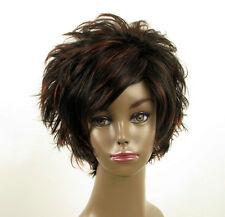 perruque femme afro 100% cheveux naturel courte méchée noir/rouge LAET 07/1b410