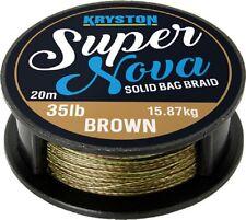Kryston Super Nova Braid Carp Fishing Rig Hooklink 35lb Brown