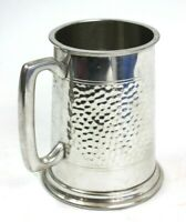 Vintage Finest English Pewter Hammered Tankard CRAFTSMAN MADE Sheffield [6193]