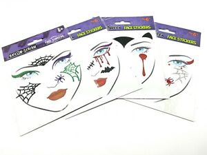 1 x Halloween Scary Spooky Face Body Stickers Tattoo Make Up