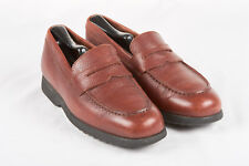 Womens TOD'S Shoes Sz 7 in Brown Pebble Grain Penny Loafers