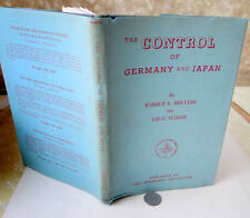 THE CONTROL Of GERMANY & JAPAN,1944,Harold G. Moulton & Louis Marlio,1st Ed,DJ