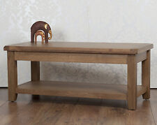 Less than 60cm High Oak Country Coffee Tables with Shelves