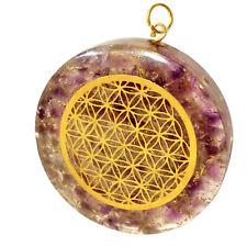 Orgonite Energy Generator Pendant Copper & Fluorite Flower Life Necklace Orgone