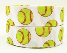 Softball 1.5 inch grosgrain ribbon 3 yds key chains hair bows