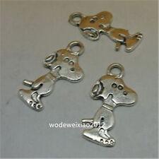 15pc Retro Tibetan Silver DOG Charm Beads Pendant Jewellery Making  JP737