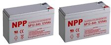 NPP 12V 9AH SLA Battery Replaces CP1290 6-DW-9 HR9-12 PS-1290F2 Pack 2