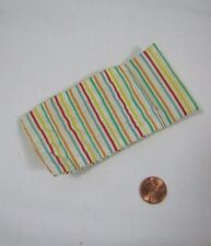 Playskool Dollhouse STRIPED LAWN CHAIR CUSHION for WHITE POOL CHAIR Rare!