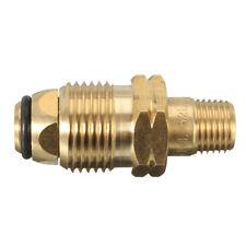 Propane LP LPG Gas Cylinder Fitting Full Flow POL Brass Connector 1/4'' 6mm MNPT