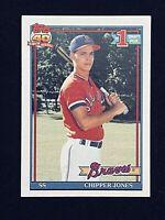 1991 Topps Chipper Jones #333 Baseball Rookie Card Braves - HOF NM or Better