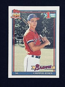 1991 Topps Chipper Jones #333 Baseball Rookie Card Braves - HOF **MINT**