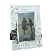 Juliana 25th Silver Wedding Anniversary 4 x 6 Glass Mirror Photo Frame WG60725