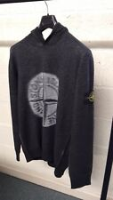 Stone Island Hooded Stretch Wool Knit In Dark Green AW17/18 RRP £265