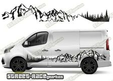 Fiat Talento sides 048 camper van racing stripes graphics MOUNTAIN stickers