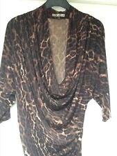 Biba animal print jersey dress, NWOT, size 8
