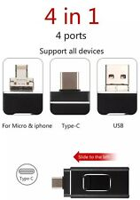 Chiavetta USB 2.0 32GB 4 in 1 pendrive FlashDrive iPhone android tipo C pc OTG
