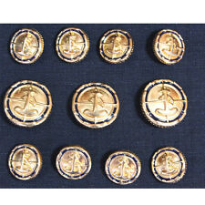 Gold Metal anchor  Blazer Buttons Set For Suit Blazer Sport Coat