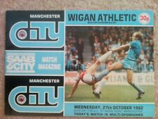 1982/83 Manchester City v Wigan Athletic - Milk Cup Second Round Second Leg