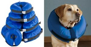 """Veterinary Dog Collar Soft Inflatable REPLACES RIGID """"LAMPSHADE"""""""