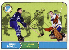 Custom made Topps  1968-69 St. Louis blues Glenn Hall  hockey card white