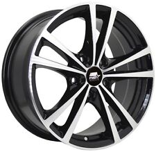 MST Saber 17x7.0 5x114.3 +45 Glossy Black w/Machined Face Rims (Set of 4)
