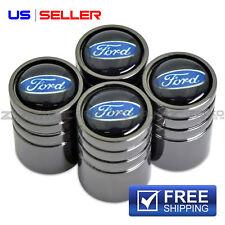 FORD VALVE STEM CAPS WHEEL TIRE BLACK CHROME- US SELLER VE64