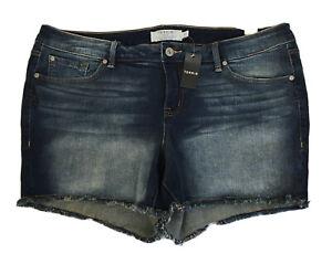 NWT Torrid Denim Cut Off Medium Wash Blue Jean Shorts Size 20 New