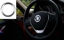 Brilliant Cool Silver Metal Car Steering Wheel Center Decoration Ring For BMW