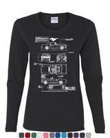 1966 Ford Mustang GT Blueprint Women's Long Sleeve T-Shirt