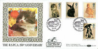 23 JANUARY 1990 RSPCA BENHAM BLCS 49 FIRST DAY COVER CAT WORLD MAGAZINE SHS