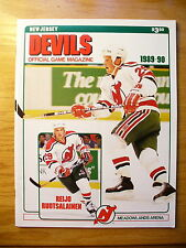 NHL New Jersey Devils '89-90 Official Team Program Game Magazine
