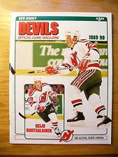 NHL New Jersey Devils '89-90 Official Team Program Game Magazine