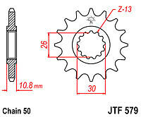 Yamaha FZS1000 Fazer JT Front Sprocket 1 Tooth Less