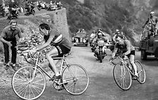 FAUSTO COPPI & JEAN ROBIC TOUR DE FRANCE 1952 ALPE D'HUEZ POSTER