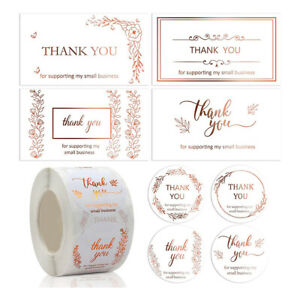 50pcs/set Thank You for Supporting My Small Business Card Thanks Greeting CaHCA